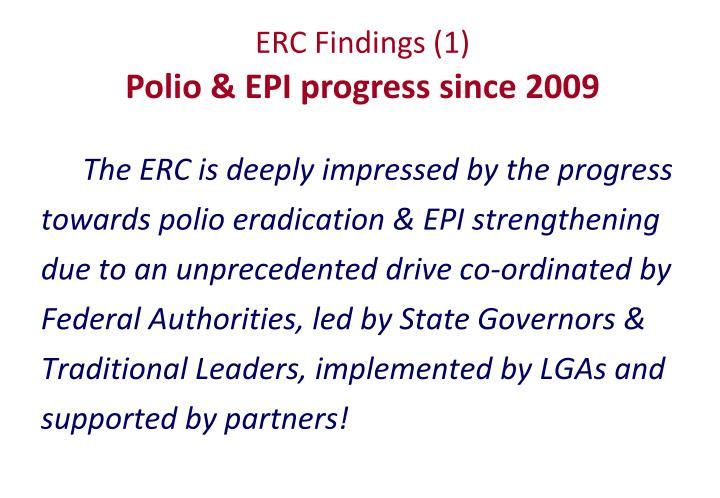 ERC Findings (1)