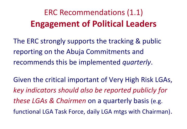 ERC Recommendations (1.1)