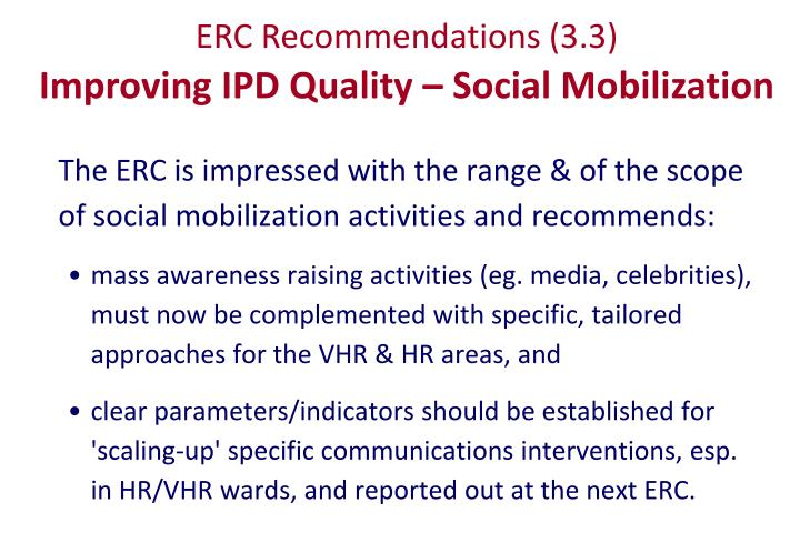 ERC Recommendations (3.3)
