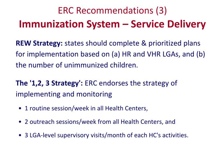 ERC Recommendations (3)