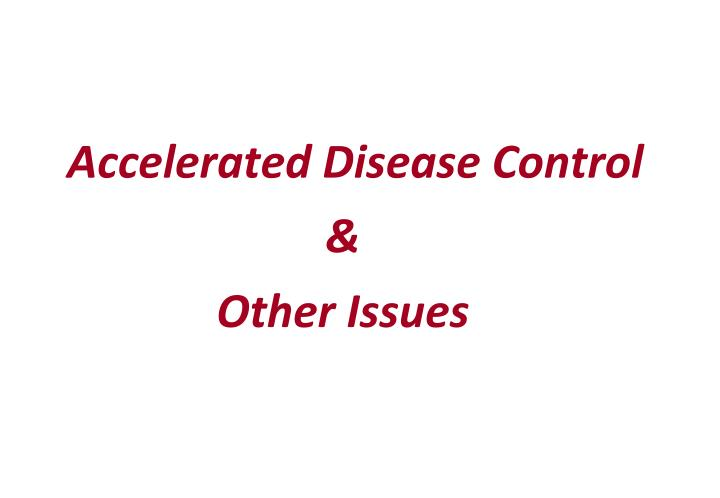 Accelerated Disease Control