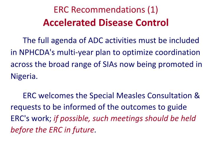 ERC Recommendations (1)
