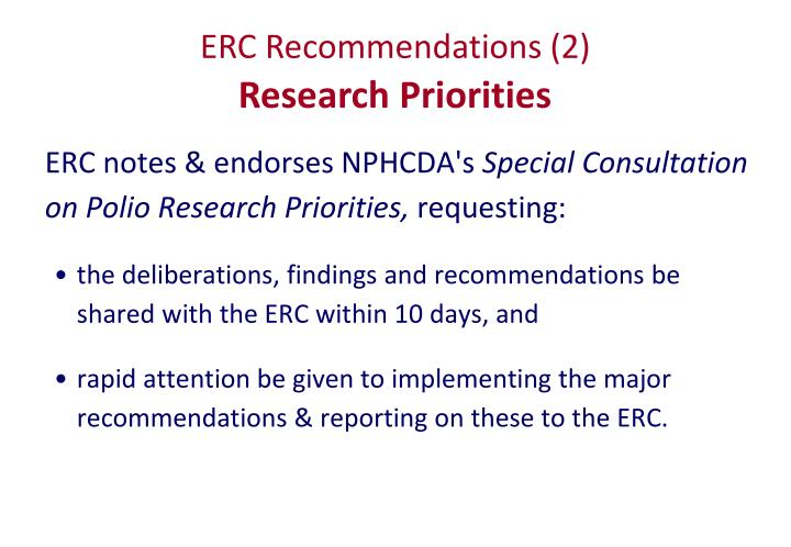 ERC Recommendations (2)