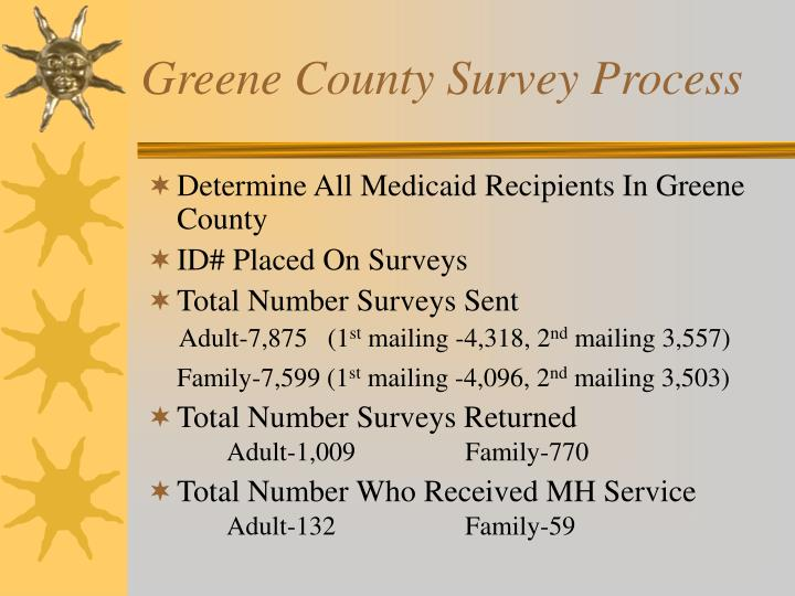 Greene County Survey Process