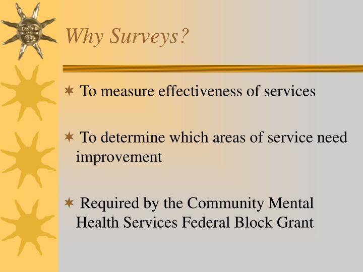 Why Surveys?