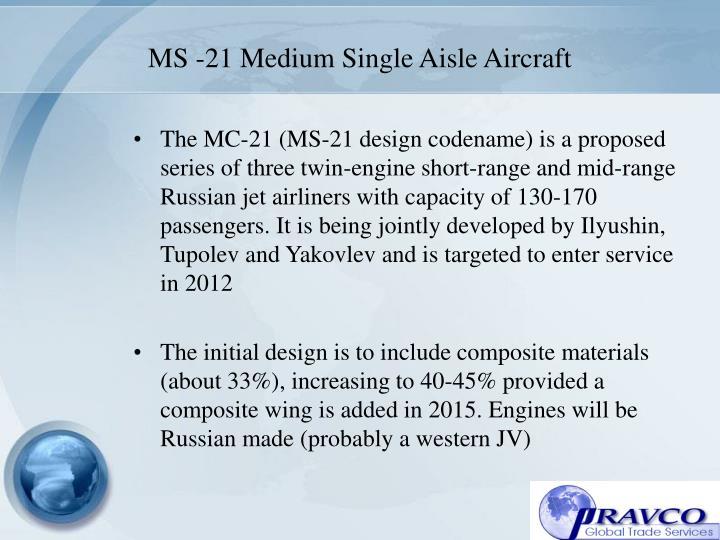 MS -21 Medium Single Aisle Aircraft
