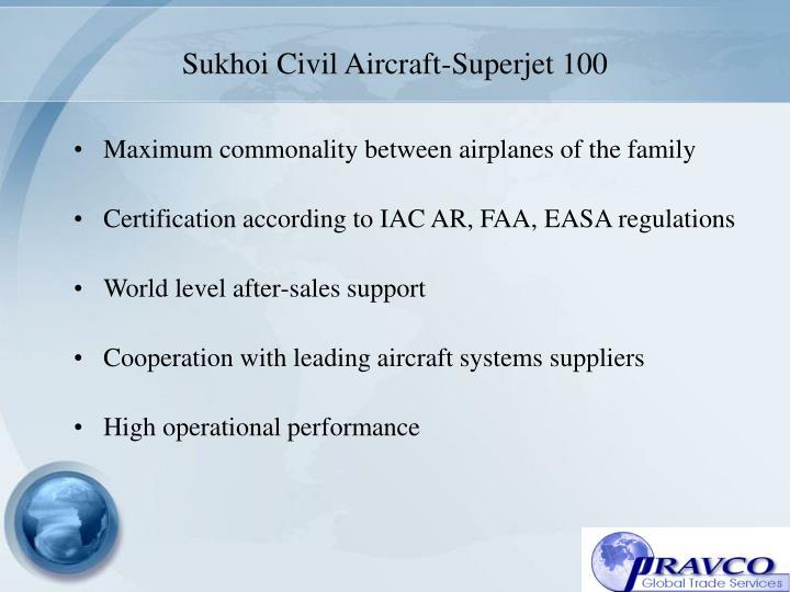 Sukhoi Civil Aircraft-Superjet 100