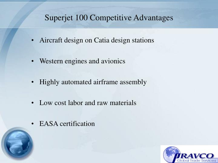 Superjet 100 Competitive Advantages