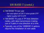 100 base t contd
