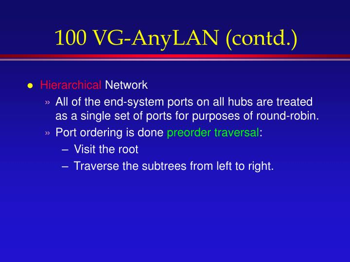 100 VG-AnyLAN (contd.)