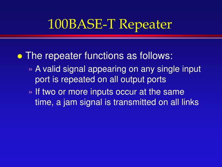 100BASE-T Repeater