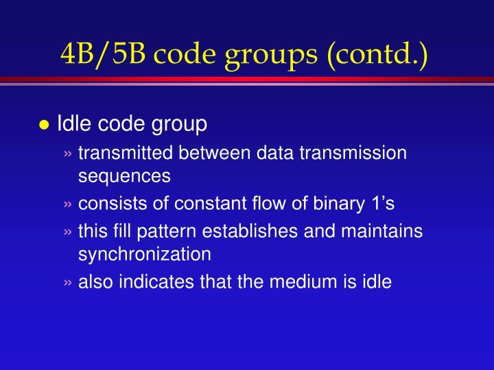 4B/5B code groups (contd.)