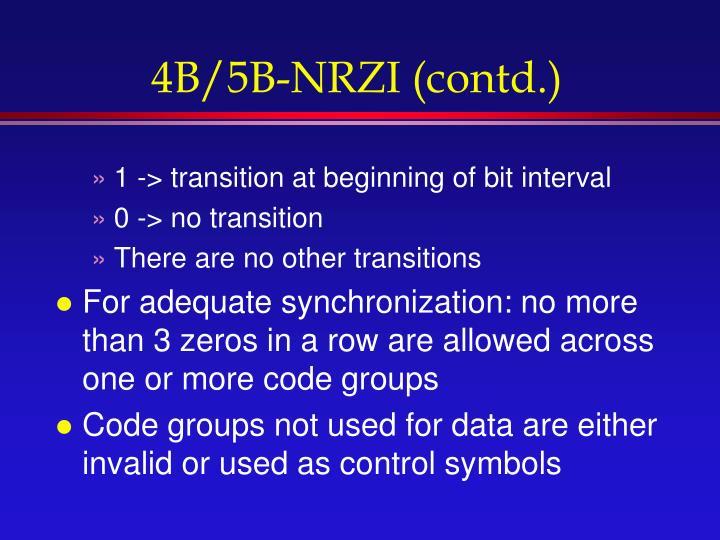 4B/5B-NRZI (contd.)