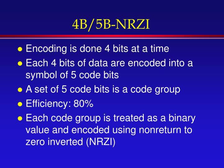 4B/5B-NRZI