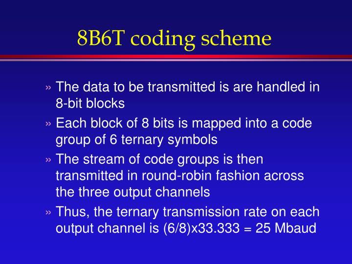 8B6T coding scheme