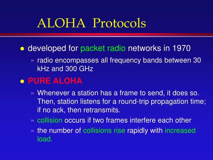 ALOHA  Protocols