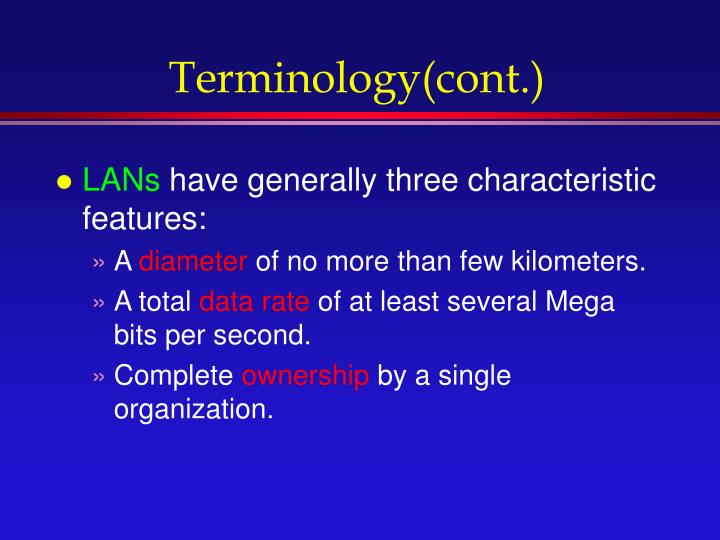 Terminology(cont.)