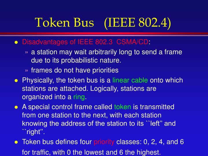 Token Bus   (IEEE 802.4)