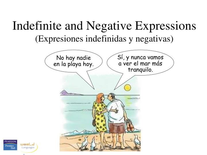 Indefinite and Negative Expressions