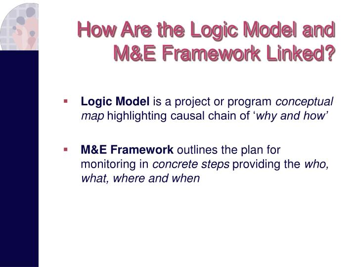 How Are the Logic Model and  M&E Framework Linked?