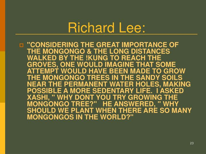 Richard Lee: