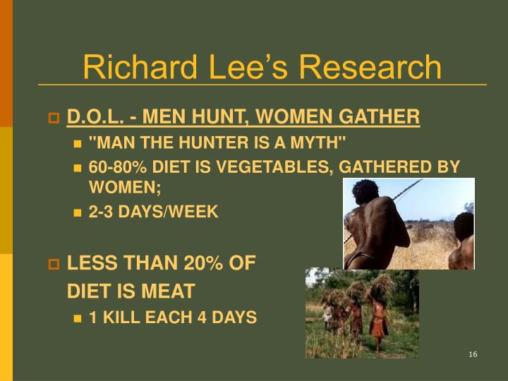 Richard Lee's Research