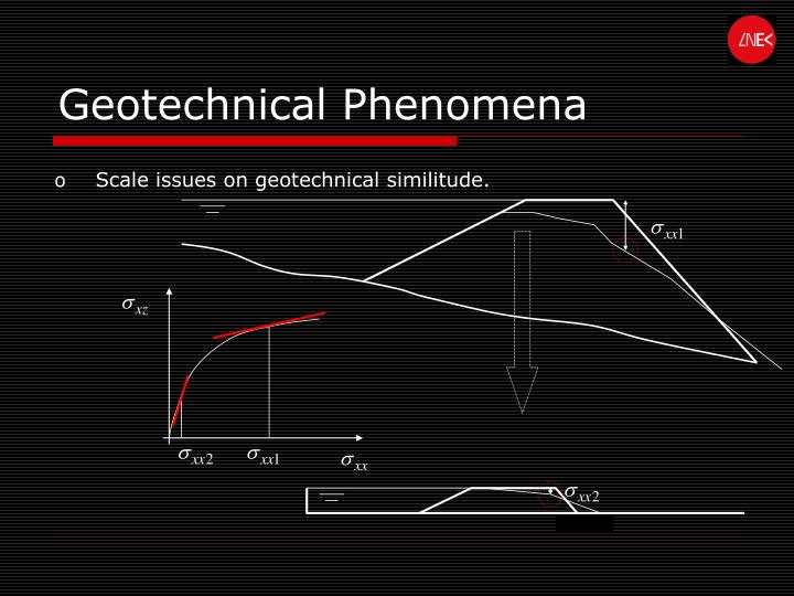 Geotechnical Phenomena