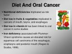 diet and oral cancer
