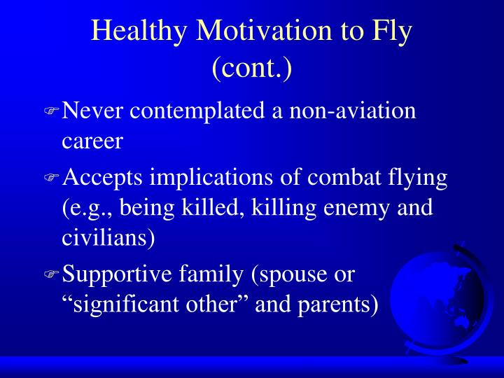 Healthy Motivation to Fly