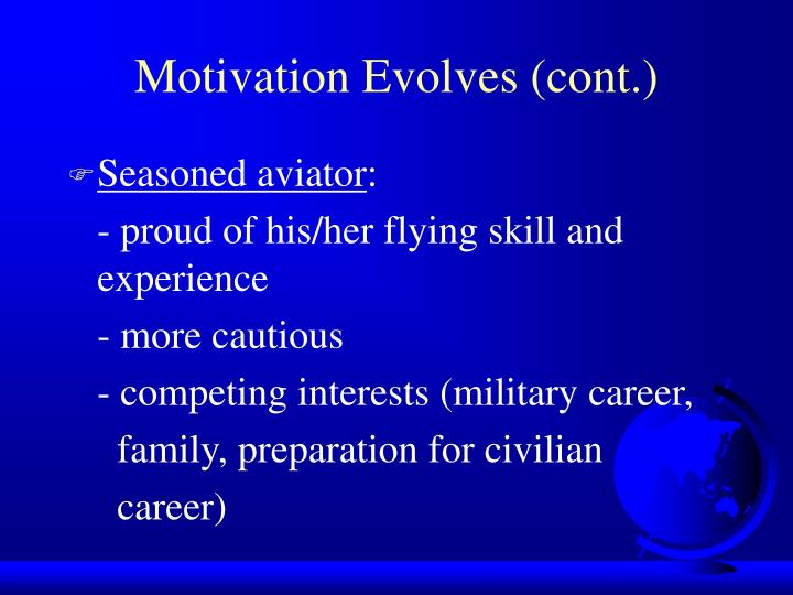 Motivation Evolves (cont.)