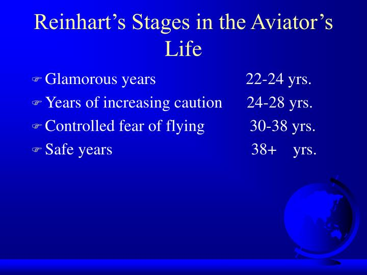Reinhart's Stages in the Aviator's Life