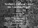 newberry cultural center site location project