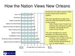 how the nation views new orleans