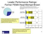 leader performance ratings former fema head michael brown