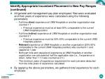 identify appropriate incumbent placement in new pay ranges continued2