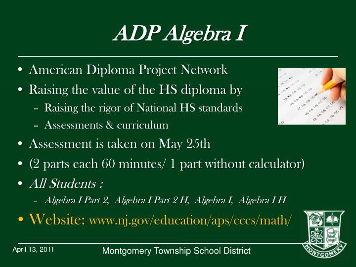 ADP Algebra I