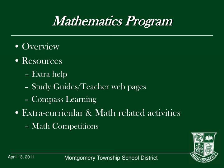 Mathematics Program