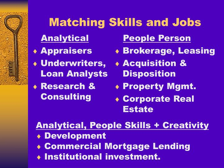 Matching Skills and Jobs
