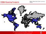 cdma roaming footprint