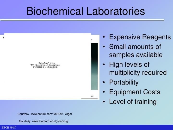 Biochemical laboratories