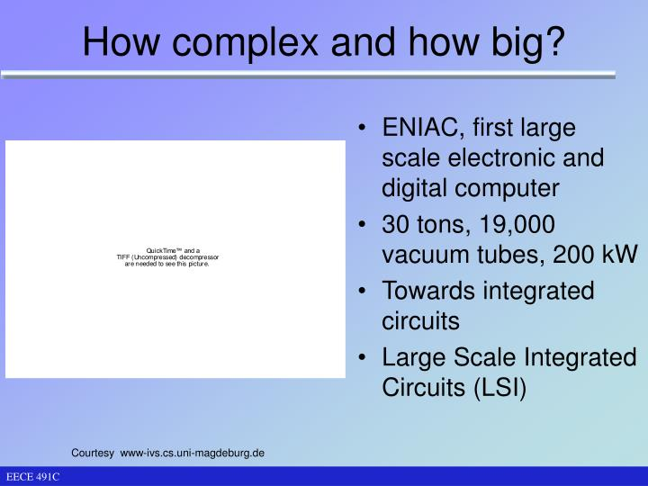 How complex and how big?