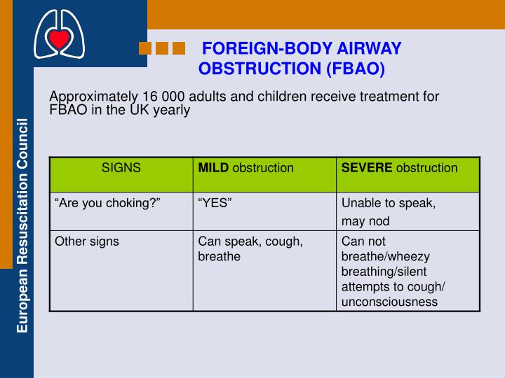 FOREIGN-BODY AIRWAY
