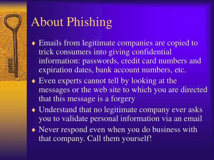 About Phishing