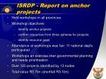 isrdp report on anchor projects