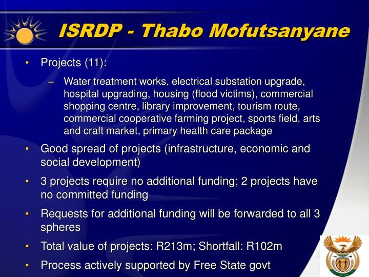 ISRDP - Thabo Mofutsanyane