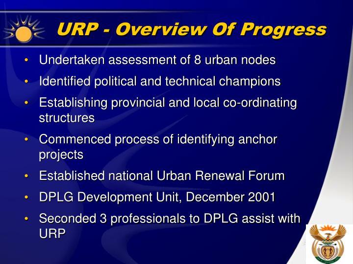 URP - Overview Of Progress