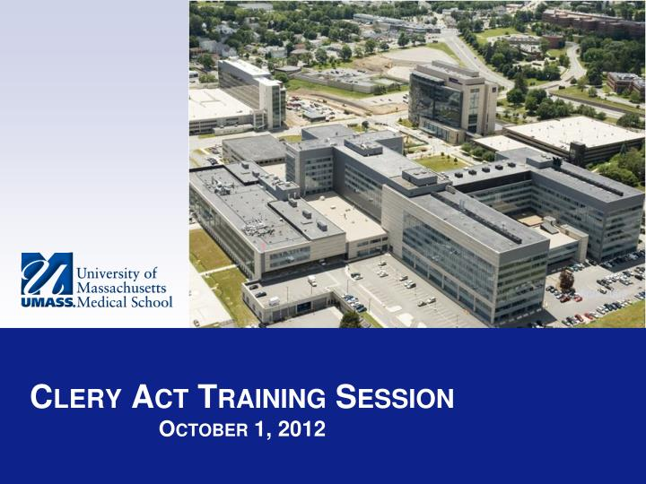 Clery act training session october 1 2012