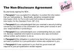 the non disclosure agreement1