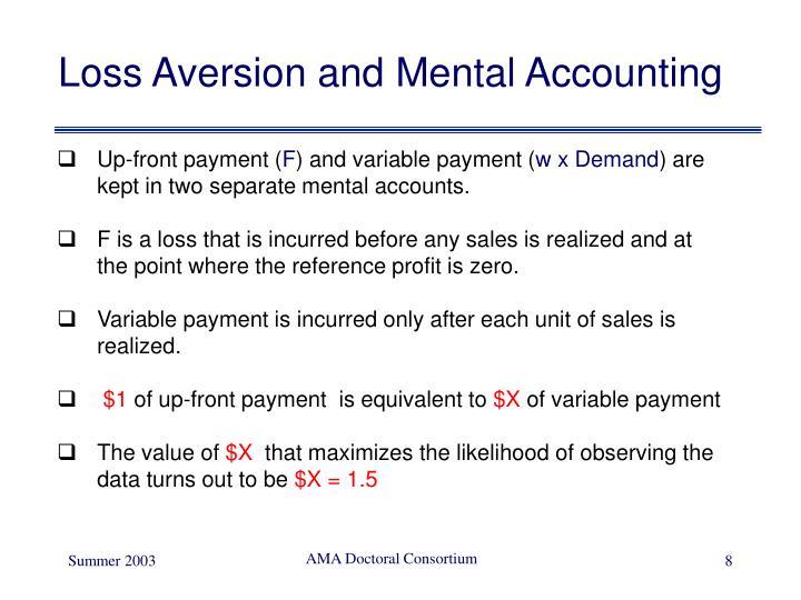 Loss Aversion and Mental Accounting