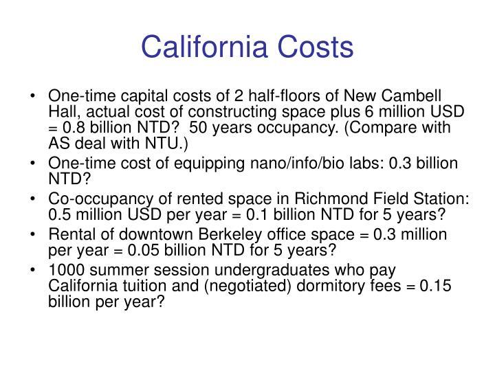California Costs